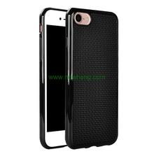 Hand embroidery cross stitch dot grid mesh cell phone case for iphone 7