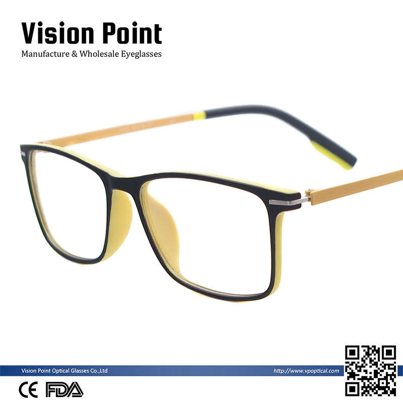 Wholesale Men Eyeglasses Square TR90 Lightweight Colorful Spectacle Frames
