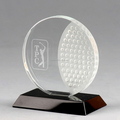Unique Wholesale Clear Optical Crystal golf awards trophy