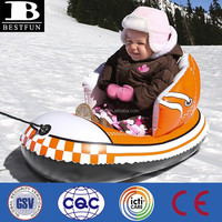 Factory custom made cold resistant snow shoe inflatable sled kids plastic snow sled baby snow shoe ski sledge