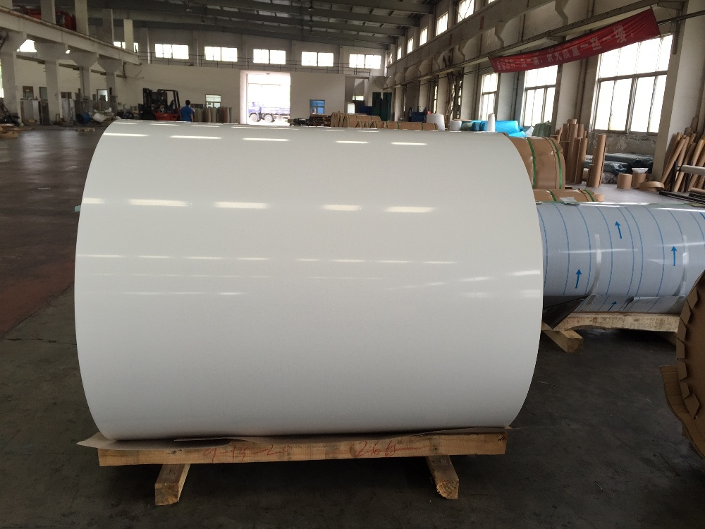 0 6 1 0mm Glossy White Aluminium Coil For Roofing Ceiling