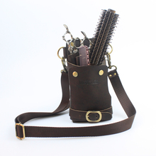 Pro Salon PU Leather Hair Scissor Bag Toolkit Case Pouch storage Comb Clip Hair Styling Tool Hairdressing Black package