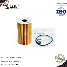 Good Price Gpaiplus Manufacturer Applicable for Hyundai OEM 26320-3C300 Oil Filters