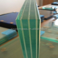 Clear & Color Tempered Laminated Glass with holes and polished edges finished 4.38mm-40mm