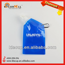 2014 New Designed Sport Foldable Water Bottle Promotional Logo Printed Eco-friendly Sports Plastic Water Bottle
