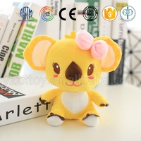 New design cute yellow small soft toy plush koala bear for baby