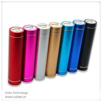 2014 new items mobile charger 2600mah lipstick battery charger round power bank