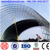 Space frame steel structure large span prefabricated building