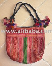 hill tribe hand woven fabric handbag, hilltribe styles handbag, ladies handbag