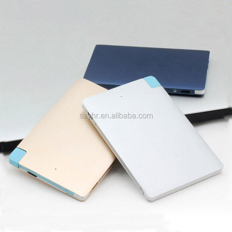 Ultra Slim Credit Card Size Power Bank 2500mAh Wallet Sized Portable Charger External Battery Pocket