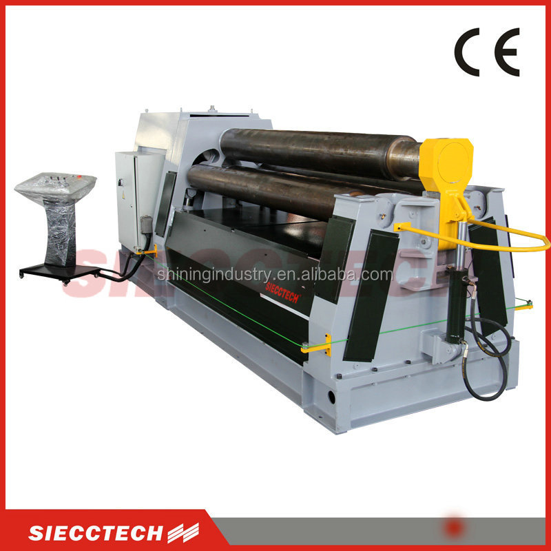 HYDRAULIC SHEET METAL ROLL MACHINE WITH HARDEN ROLLER DOUBLE PINCHING SOLD TO <strong>USA</strong> AND EUROPEAN