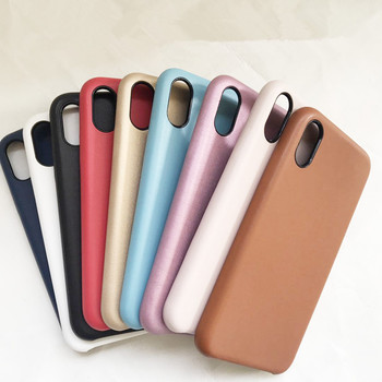 For iphone 7 original leather case with microfiber and logo,original leather case for iphone x xs max