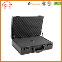 With handle Aluminum hard cases tool case tools ABS panel refirmed with silver aluminum metal travel cases