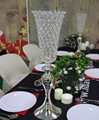 trumpet metal flower vase crystal beaded centerpiece for churches