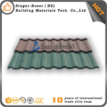 Stone Coated Steel Roofing Tile Hotsale low price high-end metal shingles lowes concrete spanish red clay roof tiles