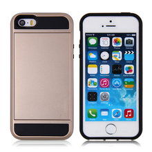 New style plastic cell phone case with card insert for iphone5