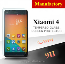 Trade Assurance Supplier ! 9H Scratch Proof Tempered Glass Screen Guard For Xiaomi 4