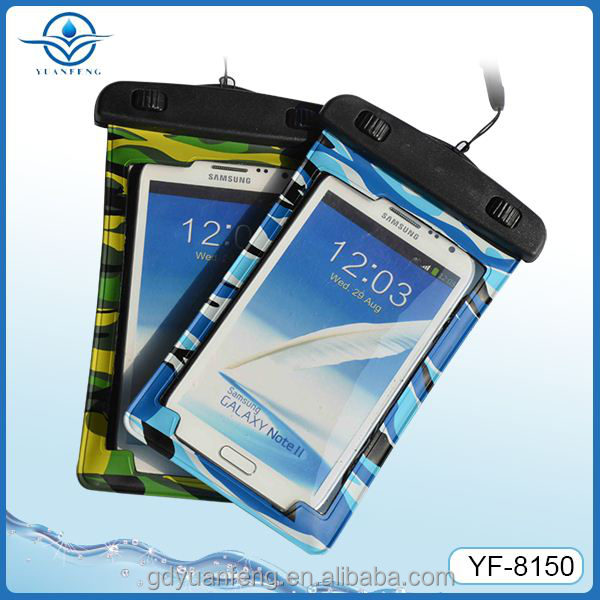 High quality IPX8 grade china factory pvc waterproof bag for All 4.3-4.5inch screen phones for swimming diving boating rafting