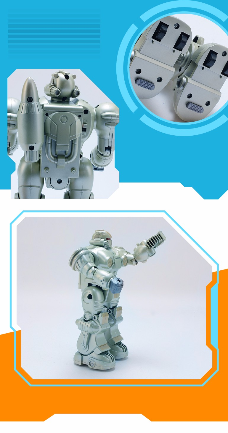 alibaba new design unusual silver electronic kids toy robot for adult