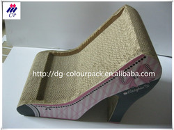 Factory Direct Sale Promotional Gift Product Cat Scratcher Lounge High Heel Shape Corrugated Cat Scratcher with catnip