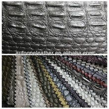 crocodile skin embossed durable PVC synthetic leather for furniture and decoration TB0039