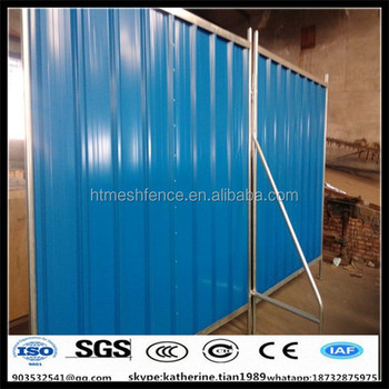 Thickness 0.55mm in ground corrugated steel fence panels