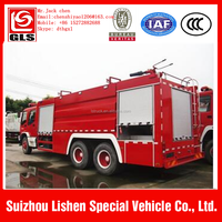 Hot selling high quality top level 6x4 15ton howo fire fighting truck