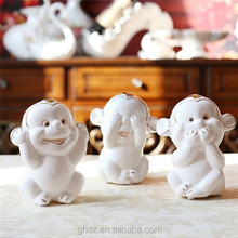 home decor resin happy smile unique monkey ornaments gifts