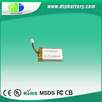 for handhold Scanner with CE 603445 3.7V 1000mAh lithium polymer battery