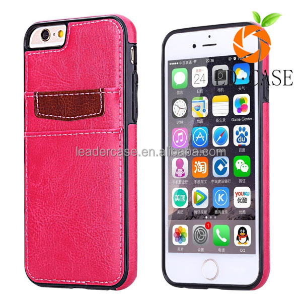 For Iphone 7 case Leather back cover and leather case guangzhou wholesale price