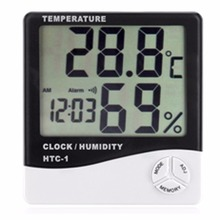 Indoor Digital Thermo Thermometer Hygrometer with Clock