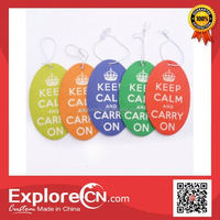 Customized car air freshener paper any printing