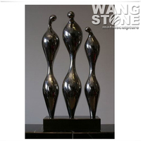 Decorative Figure Stainless Steel Modern Abstract Woman Sculpture