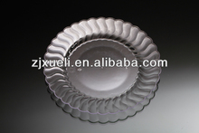 wholesale cheap wedding party hard clear plastic plates