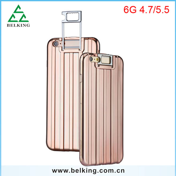 Creative Stand Holder TPU Case For iPhoen 6 Luggage Back Cover Case Shockproof Case For iPhone 4.7'' 5.5''