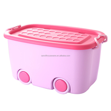 2017 Colorful Various Sizes Plastic Storage Case with wheels / lid / handles