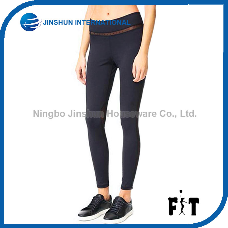 Yoga Pants Elasticity Sports Fitness Leggings Special Waist Mesh Stripe Workout Tights For Women