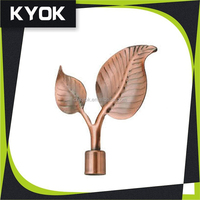 KYOK Drawing Room Beautiful Curtain Decoration Metal Finial, good price drapery for curtain finials,curtain rod end caps