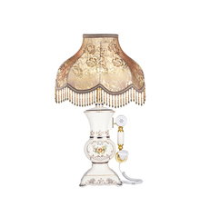 European simple table lamp bedroom bedside lamp retro phone retro ceramic lamp-one Alice