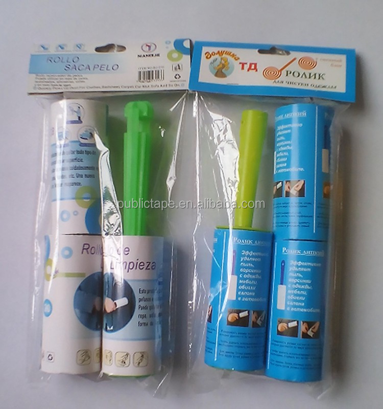 Width Can be Customized Stand Pack Perfect Pressure Sensitive Lint Roller Washable Tape Cleaning Tape