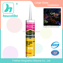 Large Glass Panel construction Acetic RTV silicone sealant