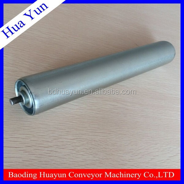 Zinc plated gravity spring loaded roller for logistic distribution center
