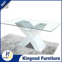 modern mdf high gloss dining table and chair for dining room