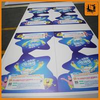 hot sale self adhesive vinyl decals bag shapes advertising board