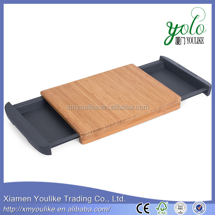 Best Bamboo Chopping Block Kitchen Board with Removable Drawer