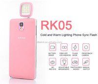 Night using selfie enhancing flash Fill light, for iphone smartphone cameras synchronization using RK05 16 leds fairly RK