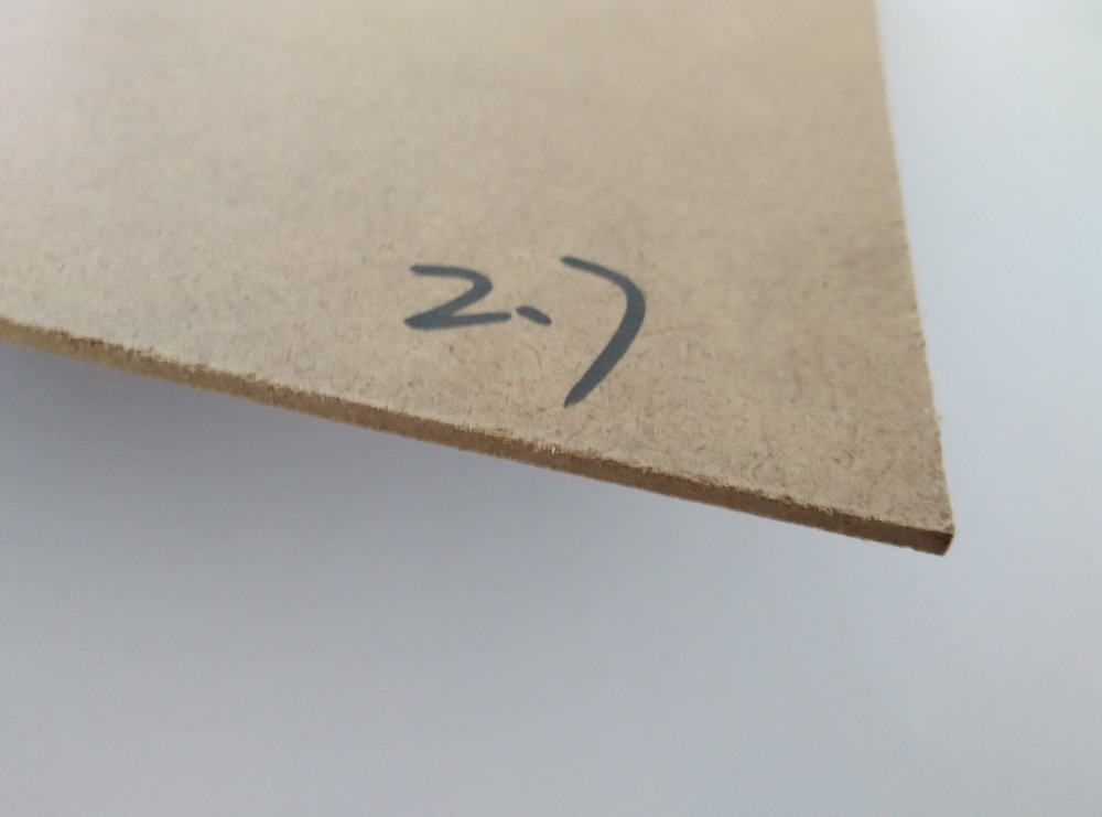 2.7mm high quality E1 plain MDF for gift package box