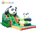 funny panda inflatable combo.inflatable bouncy castle for sale
