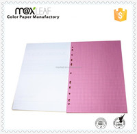 A4 80gsm colored filler paper