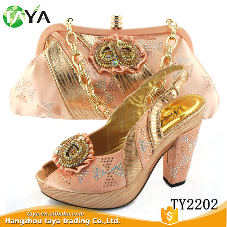 Wholesale for Party Italian Shoes and Bag Set